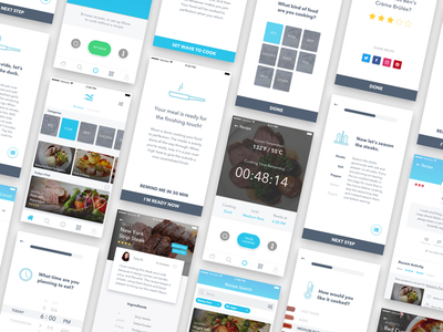 Project Overview: Sous-Vide Recipe App internet of things cooking app user experience product design iot recipe cooking ios ux