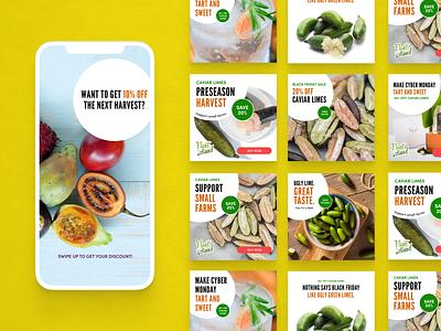 Fruit Stand Facebook & Instagram Ads subscription fruit food instagram ads facebook ads facebook instagram banner ads banner ad ads ad