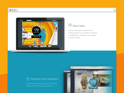 Yumpu Landing Page minimal website software landing page landing design web ux ui