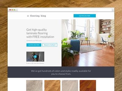 Flooring King Landing Page web design graphic design website design website web ux ui minimal landing page landing