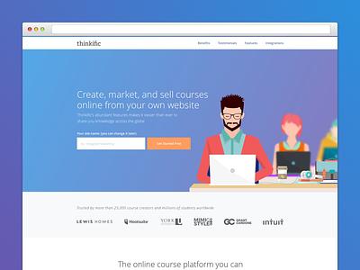 Thinkific Landing Page design website design website web space minimal landing page landing graphic design