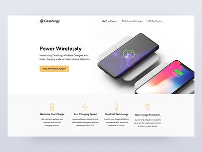 Caseology Landing Page minimal website design web landing page retail ecommerce cro