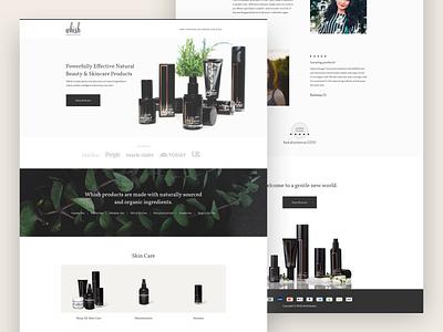 Whish Skincare Landing Page cro e-commerce ecommerce beauty lander space website web landing minimal landing page