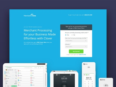 Merchant One/Clover Landing Page