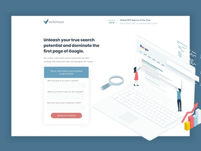 Victorious SEO Landing Page and Ads