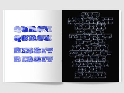 100 Iterations: Water magazine print typography graphic design design