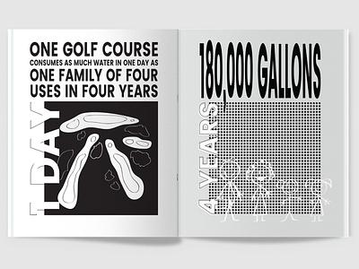 100 Iterations: Water vector illustration typography graphic design design magazine print
