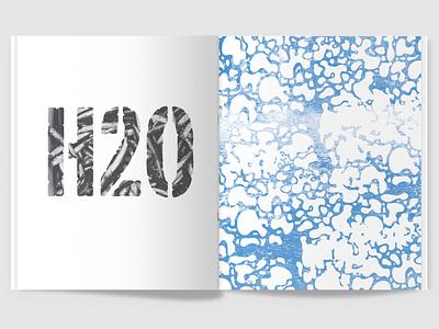 100 Iterations: Water graphic design texture print magazine typography design