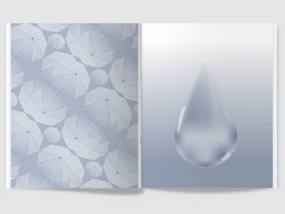 100 Iterations: Water pattern vector illustration print magazine graphic design design