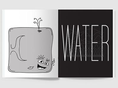 100 Iterations: Water magazine print typography design graphic design illustration