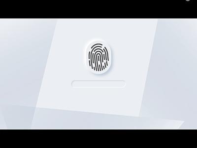 Neumorphic Fingerprint Scanner Animation ui design interactive motion design motion motion graphics animation fingerprint neumorphic design neumorphism neumorphic design vector