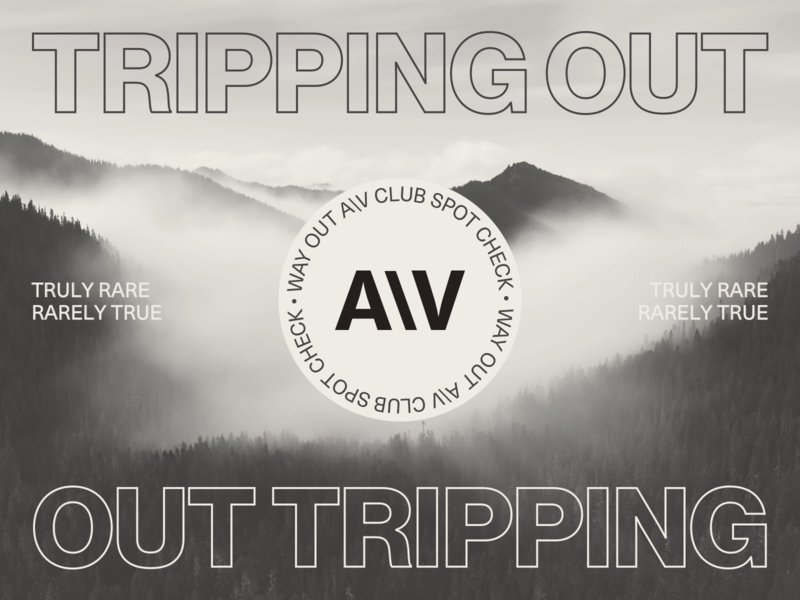 Way Out A\V Club™ Musings layout website typography type minimal grid layout grid design