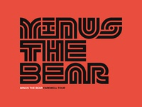 """Minus The Bear"" Farewell Tour Graphics"