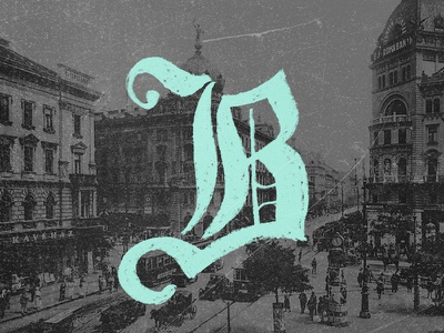 Budapest budapest chalk lettering goth typography hungary