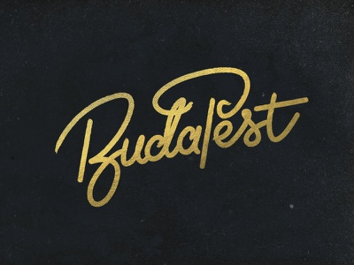 BudaPest hometown pen bling make it gold goldfoil typography monoline handletter lettering budapest