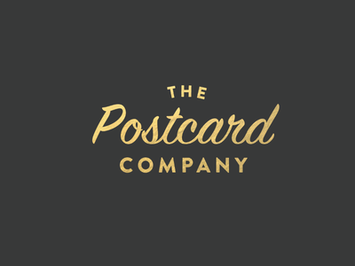 Postcard Co.  stationary design gold identity brand logo