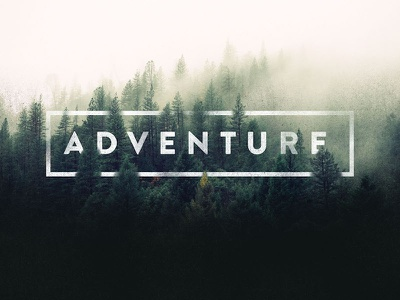 Adventure Ahead header fog forest type treatment type adventure