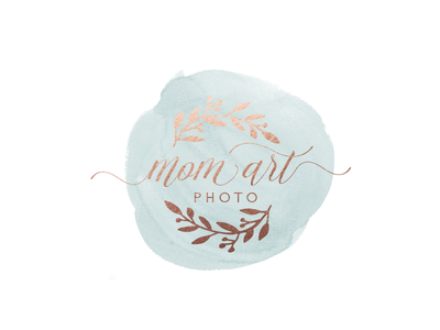 Photography Logo flourish photography mom goldfoil watercolor logo