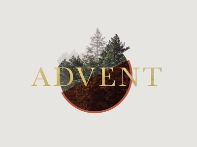 Advent Series church media goldfoil christmas pine christian advent church