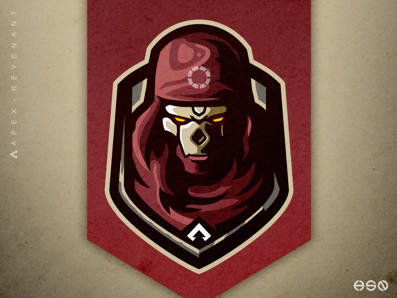 Apex Legends Revenant's Badge Logo Design badge distressed skull apex legends logodesign mascot gaming sportslogo logo gaming logo illustration bold branding esports