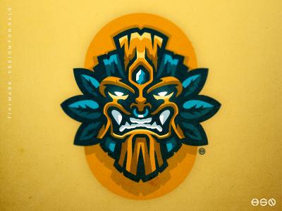Tiki Mask Logo Illustrations characterdesign brand identity uiux artwork simple logo team logo logodesign vector mascot logo bold sportslogo gaming logo tiki sport branding esports