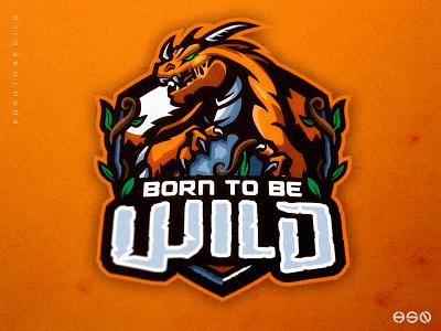 Born To Be Wild Dragon Logo vector gaming mascot sportslogo lettering logodesigns logotypes logos artwork drawing dragon illustration bold branding esports