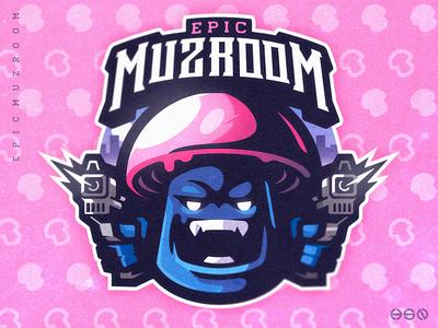 EPIC MUZROOM vibrant colors cute logodesign vector gaming mascot sportslogo logo gaming logo illustration bold branding esports