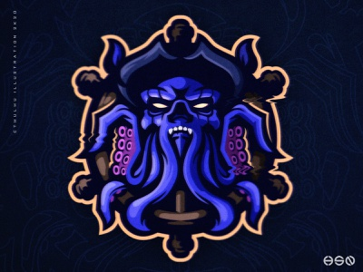 CTHULHU KRAKEN REMAKE twitch drawing illustrations jersey design sports branding sports logo pirates logodesign vector mascot gaming skull character mascot logo dark gaming logo illustration bold branding esports