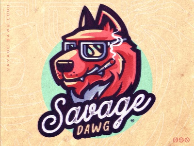 SAVAGE DAWG minimalistic modern vintage design vintage badge vintage logo animals streamers logodesign vector gaming mascot sportslogo logo gaming logo illustration bold branding streamer