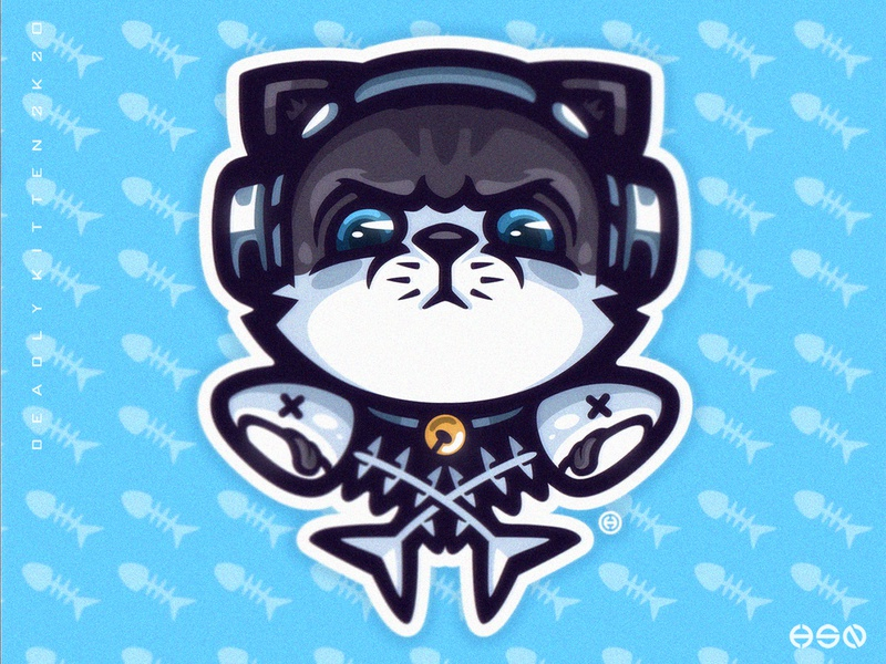 Deadly Kitten - Cat/Kitten Mascot Logo animal streamer twitch team logo logodesign vector mascot sportslogo gaming logo icon illustration bold branding esports
