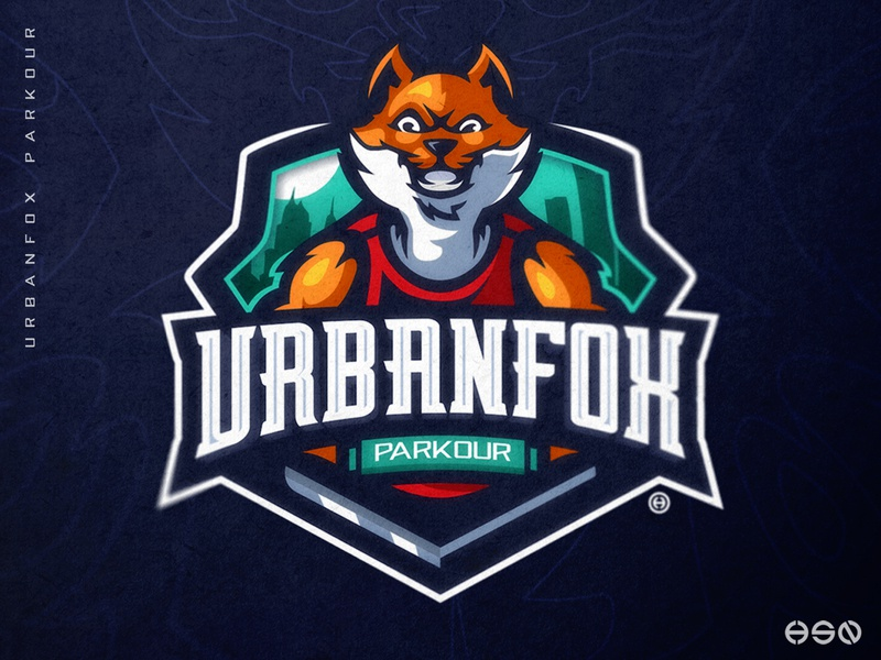 urbanfox parkour    fox mascot logo parkour graffiti urban art animal logo team logo design gaming mascot sportslogo gaming logo illustration bold branding esports