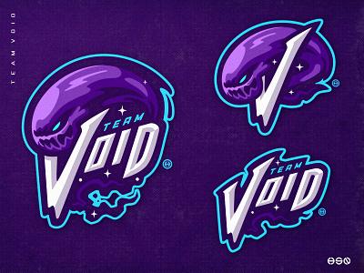 TEAM VOID wordmark lettering branding design artwork space logodesign vector gaming mascot sportslogo logo gaming logo illustration bold branding esports