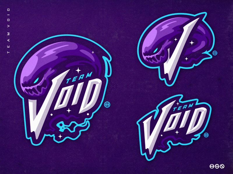 TEAM VOID wordmark lettering branding design artwork space logodesign vector gaming mascot sportslogo logo gaming logo illustration bold branding esports