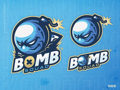 BOMBSQUAD lettering uiux mascotlogo frenchie food vector gaming mascot sportslogo team logo logo gaming logo illustration branding esports