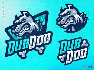 DUBDOG Mascot Logo mascot bulldog bullies twitch gamers logodesign team logo sportslogo gaming logo illustration bold branding esports