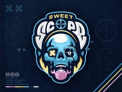 SWEET SCOPE typeface lettering typography gamers gaming mascot sportslogo gaming logo illustration bold branding esports
