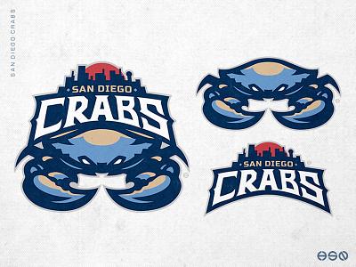 CRABS Sport Mascot Logo lettering simple sports logo sports branding animal illustration logo nfl nhl