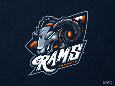 RAMS eSports typography sports branding cool gamers vector logodesign gaming design sports sportslogo gaming logo illustration esports branding