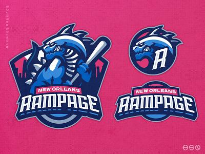 RAMPAGE MONSTER MASCOT LOGO ui esports design plumbing vector logo sportslogo gaming logo illustration bold branding cartoon