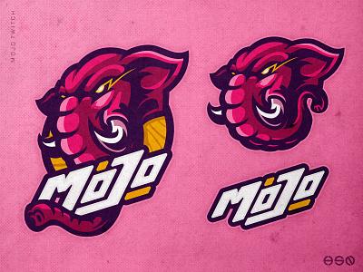 MOJO twitch animals mascot vector design sportslogo gaming logo illustration bold esports branding logo graphic design 3d