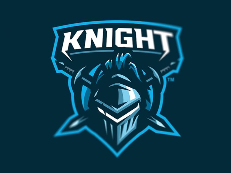 KNIGHT gaming logo logo designer illustration sportslogo cool overwatch vector logo bold gaming branding esports