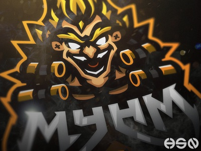 MAYHEM - Junkrat From Overwatch twitch music streamers illustration sportslogo cool vector logo bold gaming branding esports