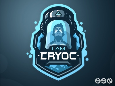 I Am Cryoc streamers strong cool sports logo twitch games overwatch gamers sports game team logo logodesign mascot sportslogo gaming gaming logo logo illustration branding esports