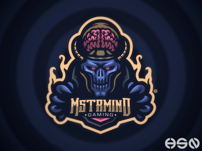 MASTERMIND games streamers twitch strong game gamers team logo logodesign typography design vector mascot sportslogo gaming gaming logo logo illustration branding bold esports