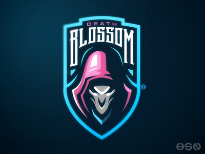 Hangzhou Spark's Reaper strong game sports logo games vector streamers twitch overwatch gamers logodesign mascot sportslogo gaming team logo gaming logo logo illustration branding bold esports