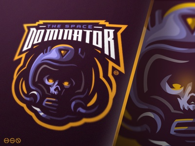 [ PREMADE ] The Space Dominator sports logo streamers twitch game sports gamers team logo logodesign vector mascot sportslogo gaming logo logo illustration branding bold esports