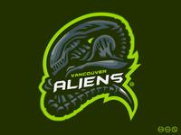 Vancouver ALIENS Mascot Logo