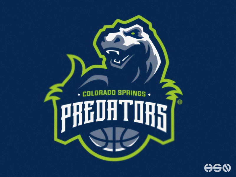 COLORADO SPRINGS PREDATORS team logo logodesign bold illustration sportslogo gaming logo vector cool design cool colors dinosaurs basketball basketball logo esports logo simple design sport branding branding mascot mascot logo sport logo sports