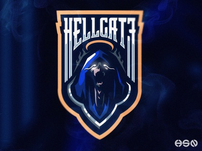 HELLGATE - Reaper Demon Hellkeeper mascot logo typography streamers strong twitch sports gamers team logo logodesign vector mascot gaming sportslogo logo gaming logo illustration branding bold esports