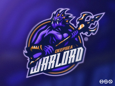 DEEPSEA WARLORD sports logo gamers vector streamers twitch team logo cool logodesign typography design mascot gaming sportslogo logo gaming logo illustration branding bold esports